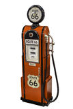Red vintage route 66 fuel pump Stock Photography