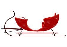 Red vintage sleigh Stock Photos