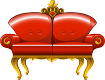 Red vintage sofa Royalty Free Stock Images