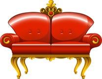 Red vintage sofa royalty free illustration