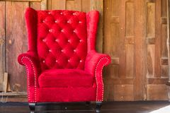.Red vintage sofa decoration interior. Red vintage sofa decoration interior royalty free stock photos