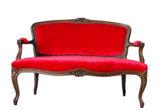 Red Vintage Sofa Stock Photos