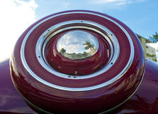 Red vintage spare tyre Royalty Free Stock Photo