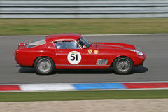 Red vintage sports car - Ferrari Stock Photography