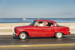 Red vintage Studebaker Lark Havana Royalty Free Stock Photos