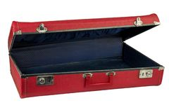 Red vintage suitcase stock photo