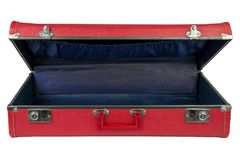 Red vintage suitcase royalty free stock photos