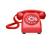 Red vintage telephone Royalty Free Stock Images