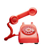 Red vintage telephone Stock Image