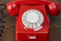 Classic dial phone Stock Images