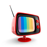 Red vintage TV Royalty Free Stock Image
