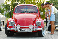 Red vintage Volkswagen Beetle Royalty Free Stock Images