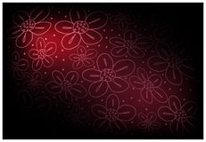 Red Vintage Wallpaper with Flower Pattern Background. Illustration of Beautiful Red Vintage Texture Wallpaper Background with Flower Pattern for Add Content or Royalty Free Stock Image