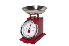 Red vintage weight scale Royalty Free Stock Photography