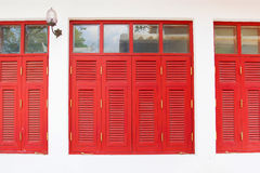 Red Vintage window Stock Photo