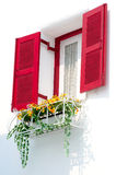 Red vintage windows Royalty Free Stock Photography