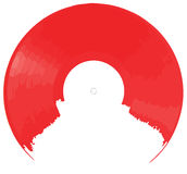 Red Vinyl background Stock Image