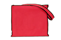 Red Vinyl Bag With Strap Revised Stock Photo