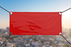 Red vinyl banner Stock Photography