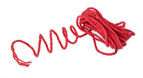 The red violaceous rope in the coil Royalty Free Stock Photo