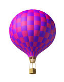 Red-violet balloon. Isolated on white 3d red-violet balloon Stock Photo