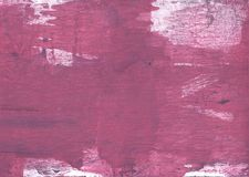 Red violet nebulous wash drawing pattern. Hand-drawn abstract watercolor texture. Used contrasting and transient colors Stock Photography