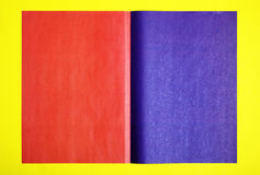 Red and violet page stock images