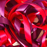 Red and violet ribbons Royalty Free Stock Images