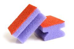 Red and violet sponges Royalty Free Stock Photography