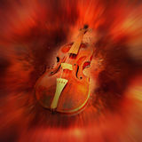 Red violin. And motion background Stock Photography