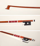 Red violin bow Stock Photos