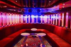 Red VIP club interior stock image