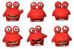 Red virus Stock Image