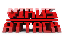 Red Virus Alert word Stock Image