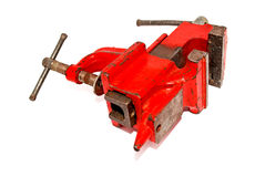 Red vise tool. On a white background, isolated Royalty Free Stock Images
