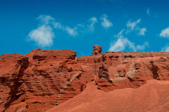 Red volcanic landscape, Lanzarote island Stock Image