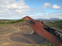 Red volcanic mountain Stock Images