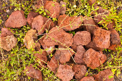 Red volcanic rock Stock Photo
