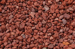 Red Volcanic Rock Texture Stock Photography