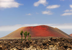 red volcano Stock Photography