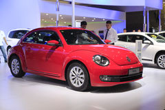 Red volkswagen beetle car Royalty Free Stock Images