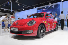Red volkswagen beetle car Stock Photos