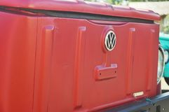Red Volkswagen royalty free stock photography