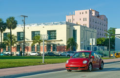 Red Volkswagen in Florida Royalty Free Stock Image