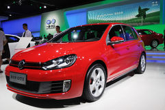 Red Volkswagen golf gti Stock Photo