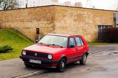 Red Volkswagen Golf