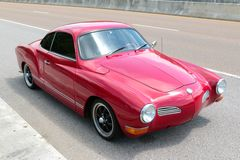 Red Volkswagen Karmann Ghia Stock Photo