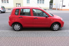Red Volkswagen Polo GTI Stock Photography