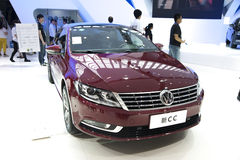 Red volkswagen's new cc car Royalty Free Stock Photography