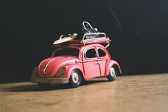 Red Volkswagen Toy stock images